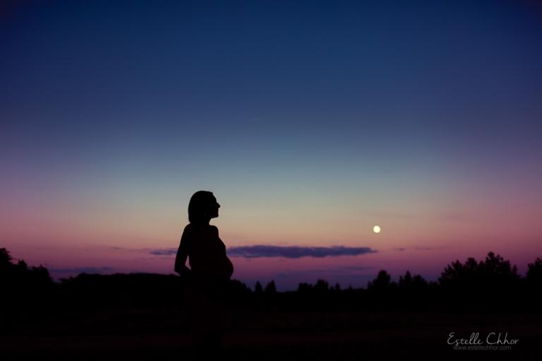 Photographe sp cialiste grossesse yvelines s ance photo maternit au coucher du soleil - Coucher du soleil montpellier ...