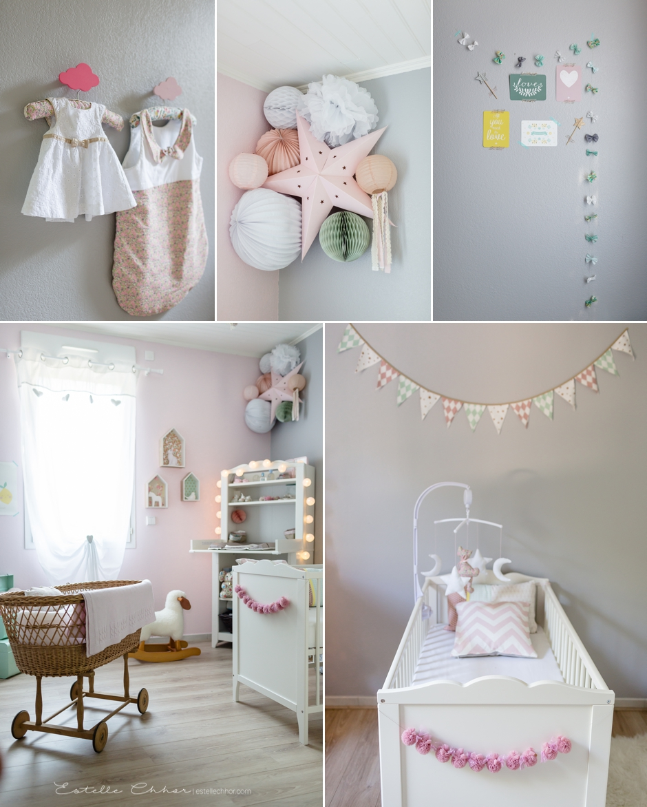 Photographe b b paris yvelines s ance photo l 39 heure - Deco chambre bebe fille gris rose ...