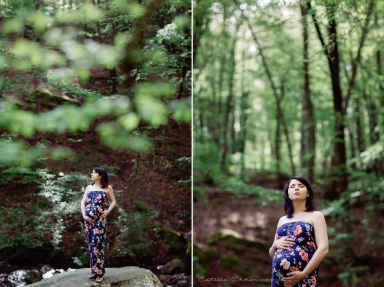 S ance photo grossesse dans les fleurs photographe for Promenade dans les yvelines