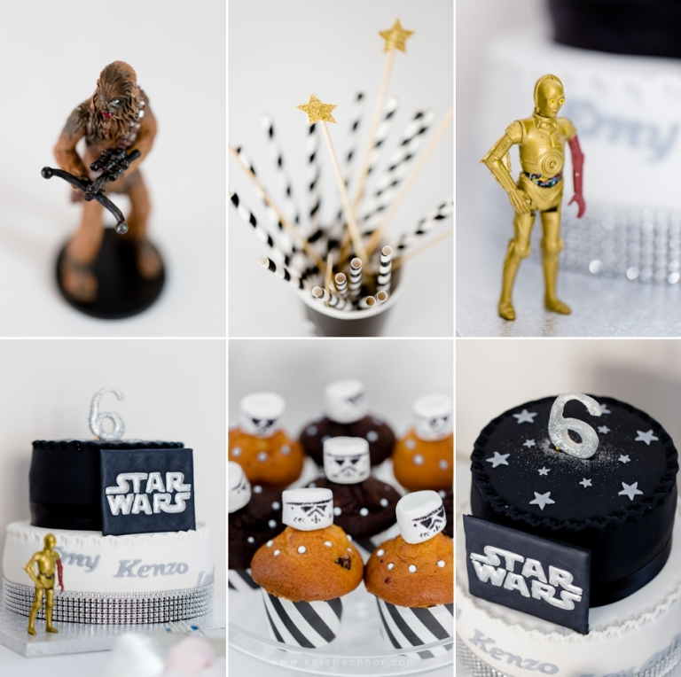 photos anniversaire star wars noir et blanc photographe enfants yvelines estelle chhor. Black Bedroom Furniture Sets. Home Design Ideas