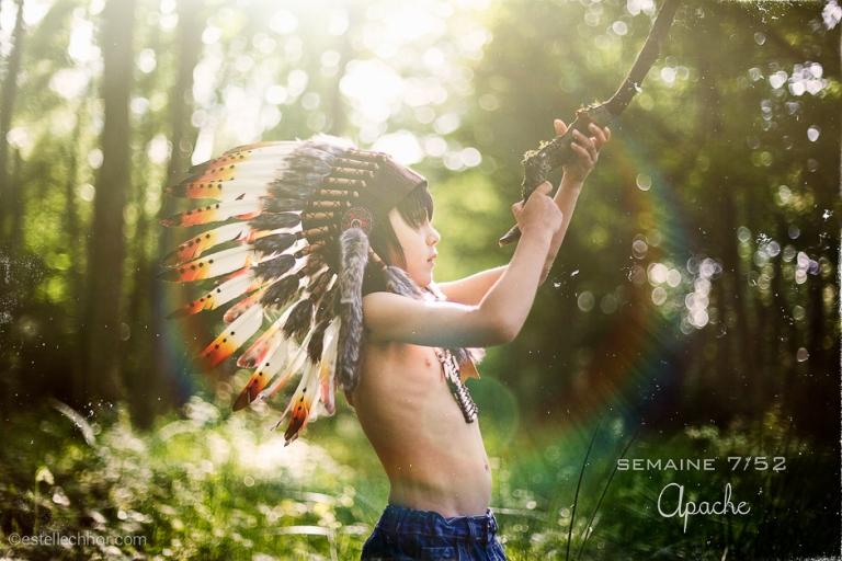 séance photo enfant indien