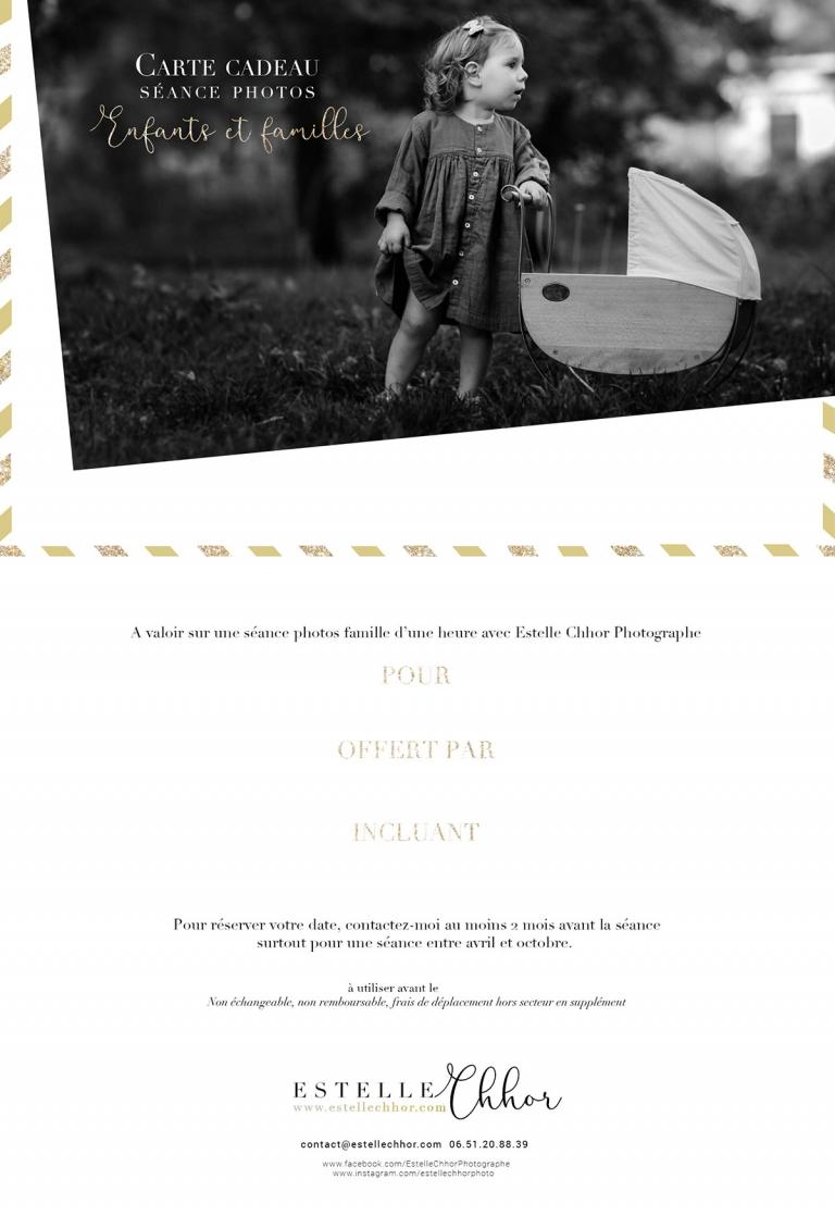 carte cadeau séance photos famille paris
