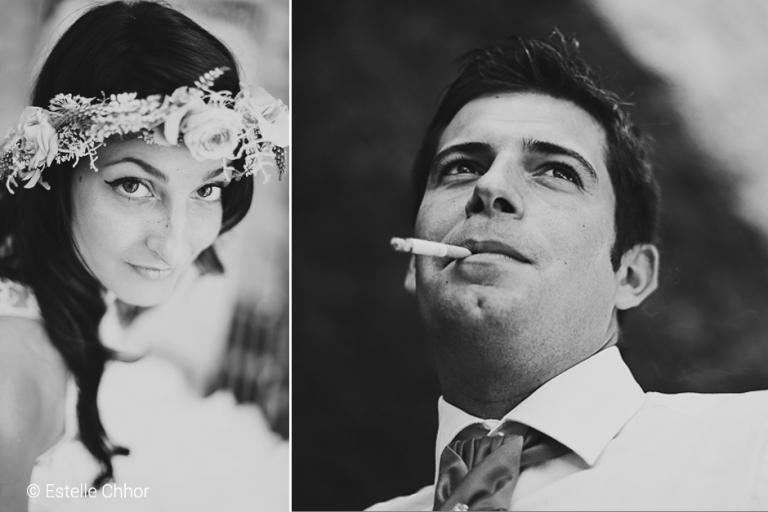 portrait mariés bohème