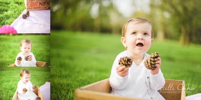 séance photo anniversaire bébé