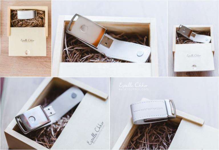 Estele chhor photographe mariage-usb box
