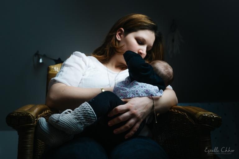 photo allaitement à domicile