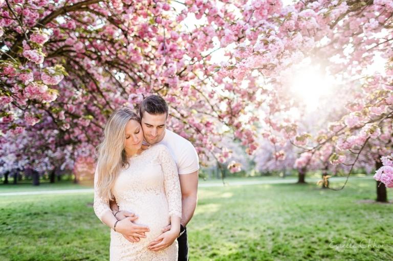 séance grossesse cerisiers en fleurs 3