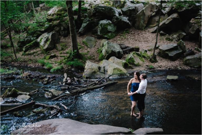 séance engagement forêt cascade paris