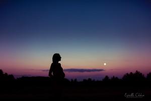 photos de grossesse coucher de soleil