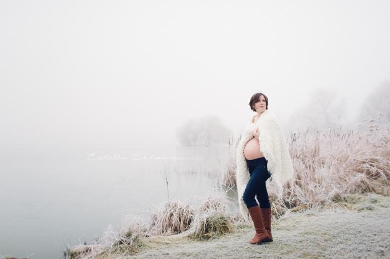 séance photo grossesse extérieur hiver