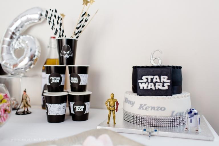 photos anniversaire star wars noir et blanc photographe enfants yvelines estelle chhor. Black Bedroom Furniture Sets. Home Design Ideas