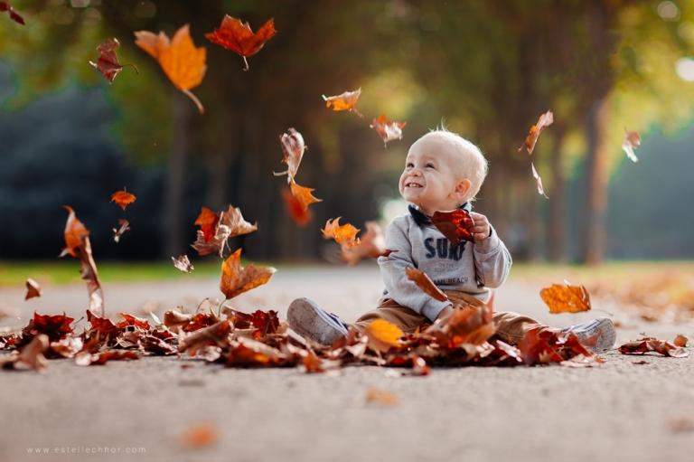 séance photo enfant automne