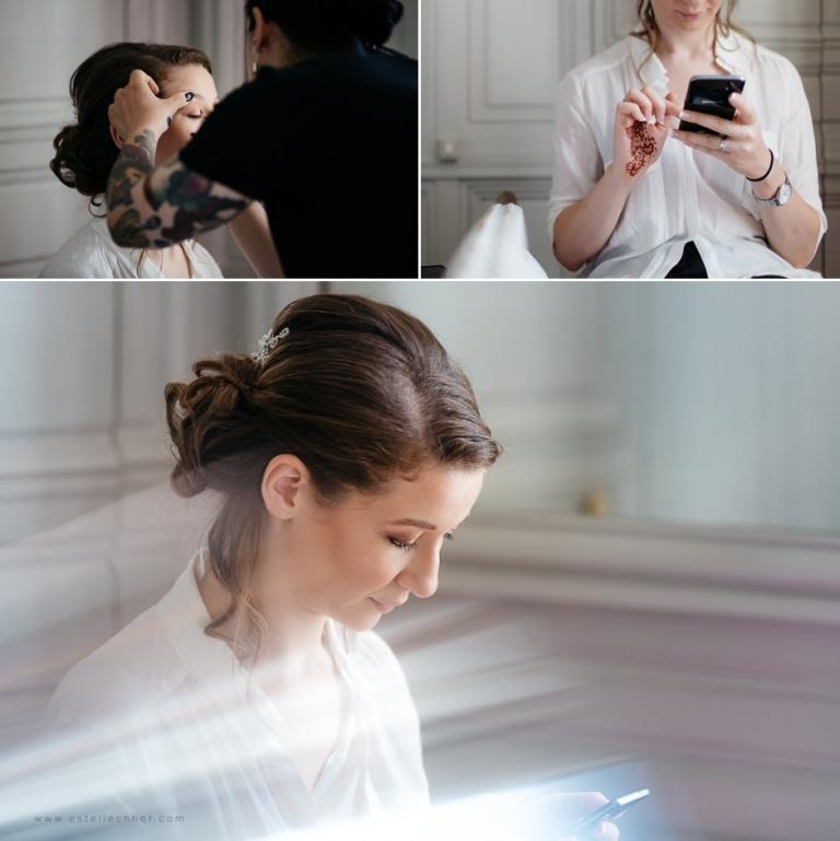 portrait maquillage de la mariée