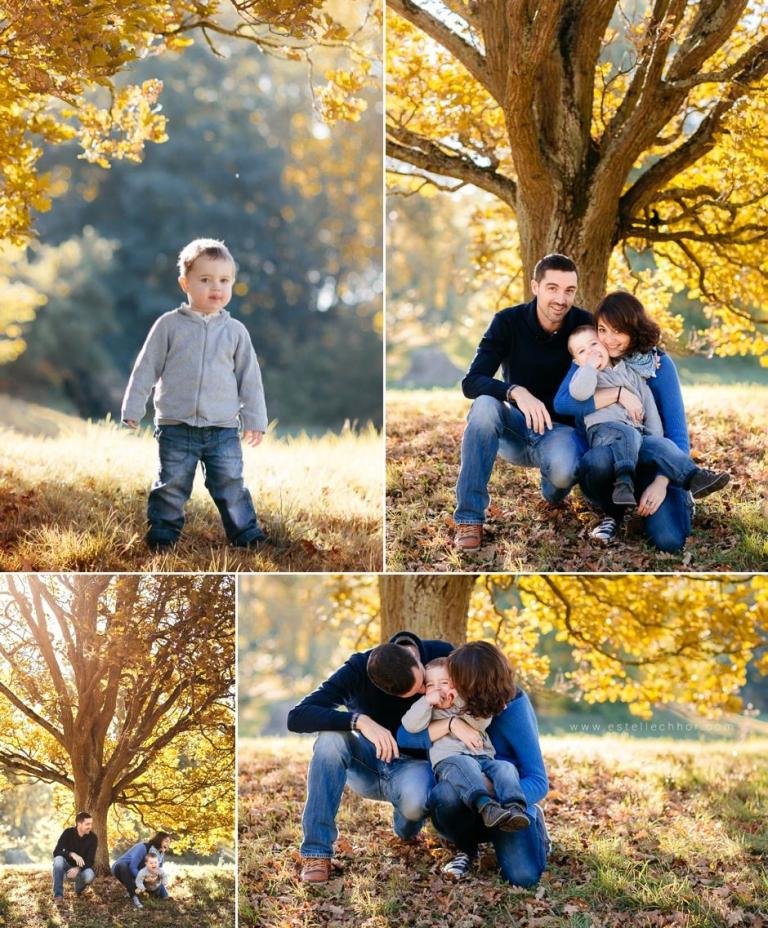 séance photo famille en automne