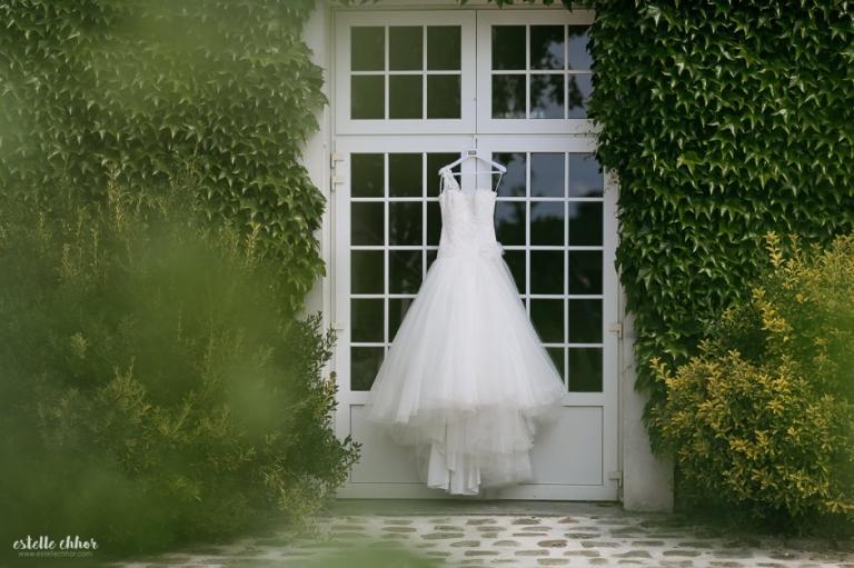 robe mariée asymétrique