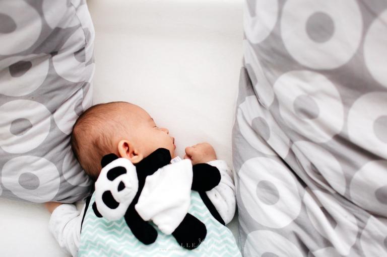 photo bébé avec peluche panda