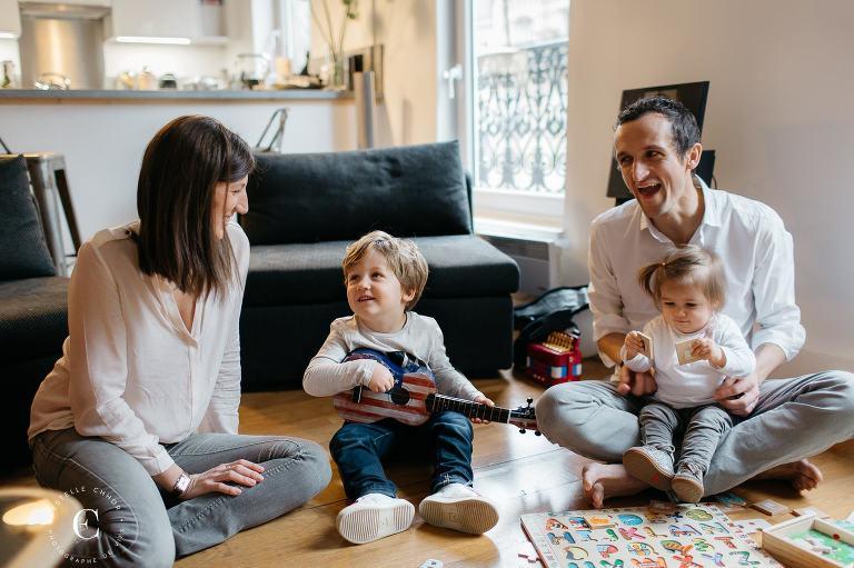 photo famille sur le vif