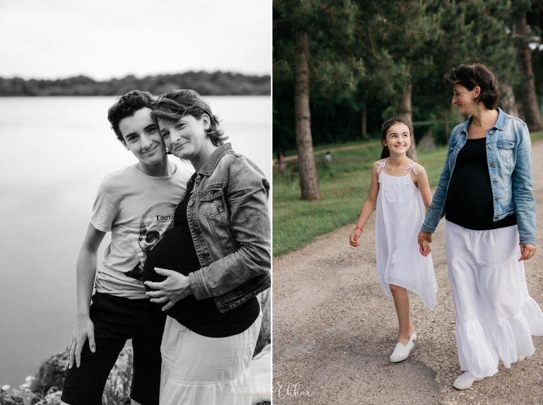 séance photo femme enceinte en famille dans l'Hérault
