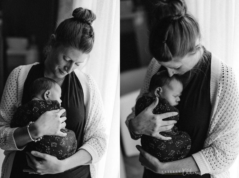 belles photos maman bébé noir et blanc émotion