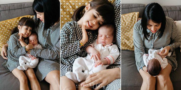 séance photo nouveau-né en famille