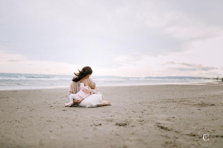 séance photo allaitement plage