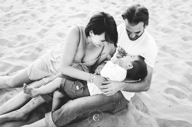 belles photos de famille en noir et blanc