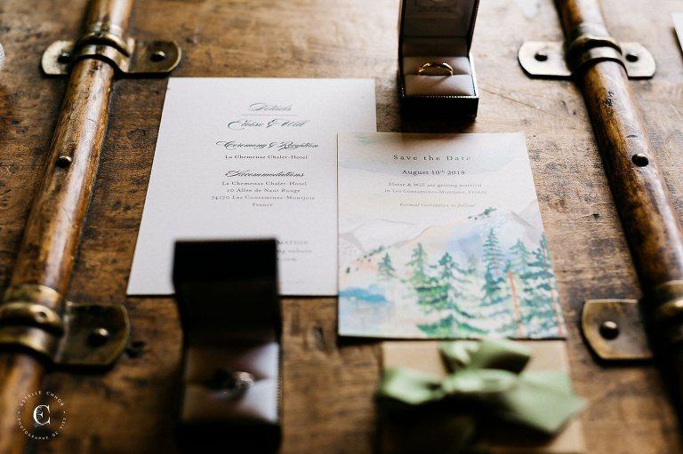 faire part mariage thème montagne