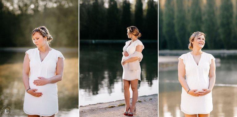 séance photo grossesse lac ceceles