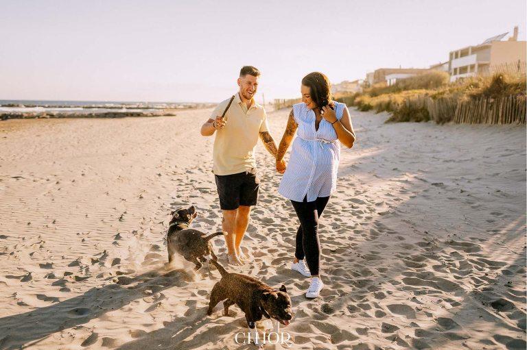 shooting photo grossesse avec chien